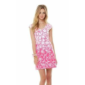 Lilly Pulitzer Desiree Dress Pink Strike a Posie